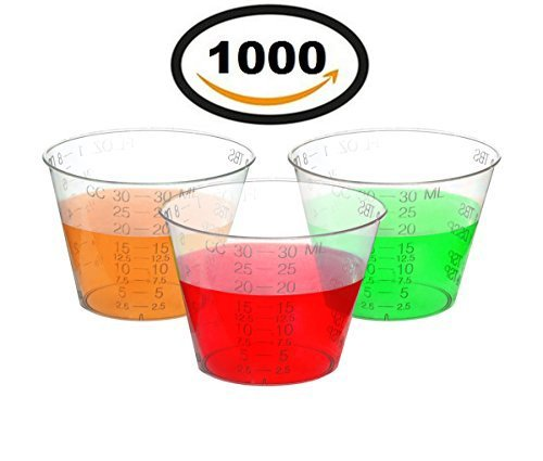 Measuring Cup Case Pack - Oakridge Products One Ounce Plastic Medicine Cups (pack 1000)
