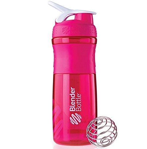 Blender Bottle Sport Mixer Protein Shaker Cup 28 oz BlenderBottle Sport - Pink/White - Texas Rangers Water Bottle