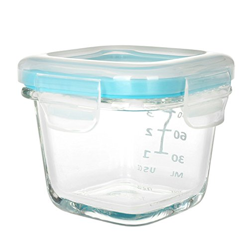 Oxo Tot Glass Baby Blocks Food Storage Containers Aqua 4