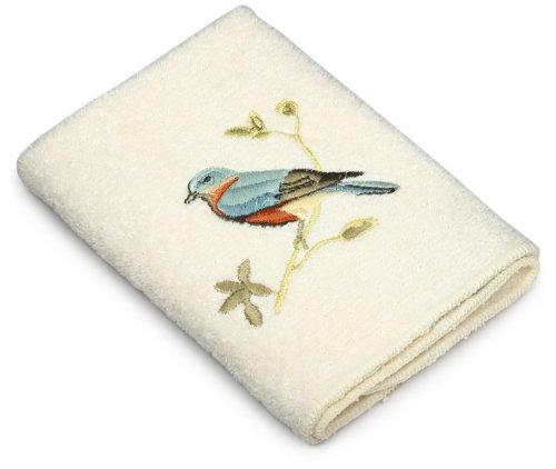 Avanti Linens Gilded Birds Wash Cloth, Ivory