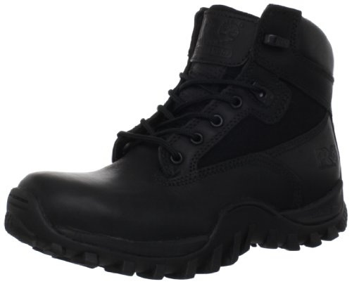 Timberland PRO Valor Men's Mcclellan 6 Inch Soft Toe Work Boot,Black Leather,11 M US