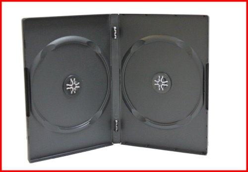 100 Pk Premium 14mm CD DVD Storage Case Double Black Dual 2 Discs Holder Box Machinable ()