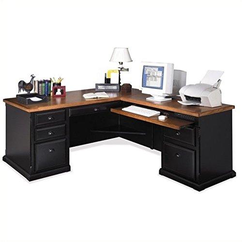 Martin Furniture Southampton RHF L-Shaped Executive Desk in Oynx Black