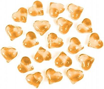 orange Gold SiDeSo/® Dekosteine Herzen 30 St/ück viele Farben Acryl Tischdeko Streudeko Hochzeit