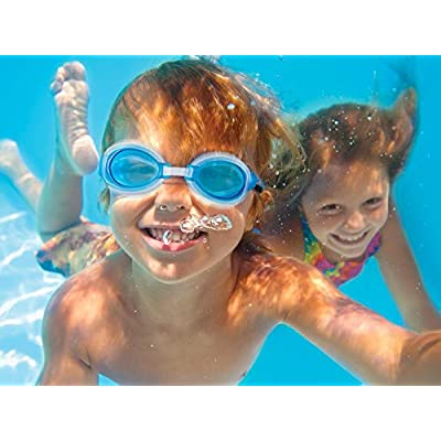 SwimWays Fish Face Guppy Goggle: Toys & Games