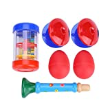 Kids Musical Instruments Toy, 6 Pcs 4Types Percussion Toy Set for Kids Preschool Educational Early Learning