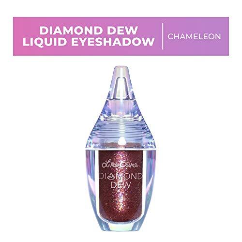 Lime Crime Diamond Dew Glitter Eyeshadow, Chameleon - Iridescent Burgundy Lid Topper - Reflective Sparkle Shadow for Lids, Cheeks & Body - Wont Smudge or Crease - Vegan - 0.14 fl oz
