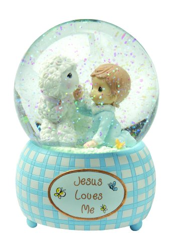 Precious Moments,  Jesus Loves Me, Boy, Resin Snow Globe, 102404 by Precious Moments