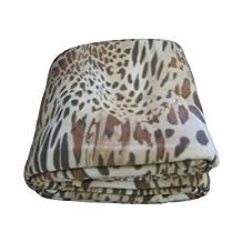 DaDa Bedding BL70742 Leopard/Cheetah Polar Fleece Blanket, Twin, Brown