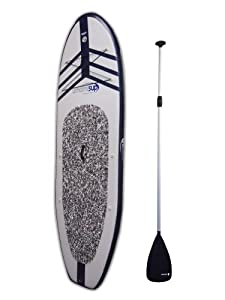 port Vessels Men's Umami Stand Up Paddleboard Set, 9-Feet x 10-Inch, White/Blue from Torero Imports LLC