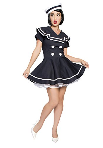Pin-Up Captain Costume - XX-Large - Dress Size 12-14 (Teen Sailor Costume)