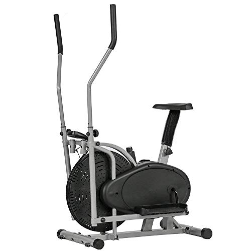 BMS Elliptical Trainer Elliptical Machine Exercise Bike Aerobic Elliptical Fitness Exercise Adjustable Resistance Trainer Machine Exercise With Seat LCD Display Fitness Equipment by BMS