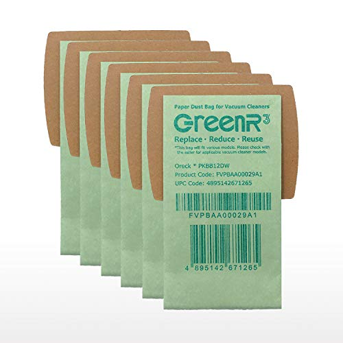 GreenR3 6-PACK Paper Vacuum bags For ORECK PKBB12DW fits Bus