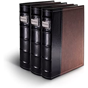 Amazon Com Bellagio Italia Brown Dvd Storage Binder Set