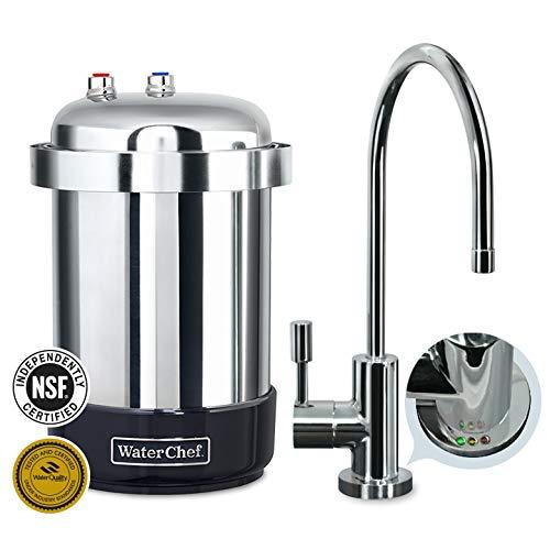 (WaterChef U9000 Premium Under-Sink Water Filtration System with Intelligent Monitor (Polished Chrome Designer Faucet)   )