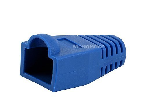 [50pcs] RJ-45 Color Coded Strain Relief Boots - BLUE