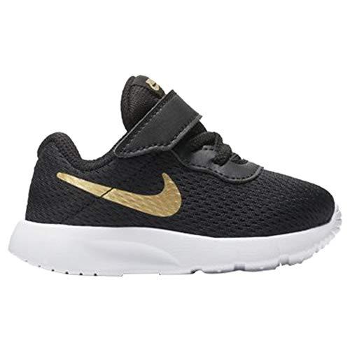 Nike 818383-016: Toddler Tanjun (TDV) Running Black/Metallic Gold Sneaker (9 Toddler M)