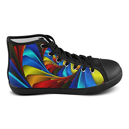 Artsadd Psychedelic Rainbow Spiral High Top Scarpe Di Tela Per Uomo (model002)