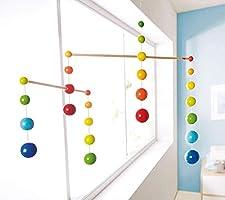 Made in Germany HABA Nursery Room Wooden Mobile Rainbow Balls