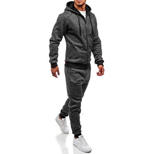 Sweat Sport Tops Hiver Foncé Gris Costume Blousons Ensembles Automne Pantalons Survêtement Bellelove Patchwork Sets Solide Manteaux 2018 Top Homme zFZqZf