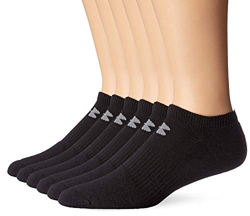 Under Armour Mens Charged Cotton 2.0 No Show Socks- (2 Pack (12 Pair) X-Large, Black) by Under Armour (Image #1)