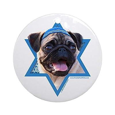 CafePress-Hanukkah-Star-of-David-Pug-Ornament-Round-Round-Holiday-Christmas-Ornament