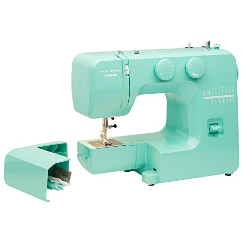 Janome Arctic Crystal Easy-to-Use Sewing Machine with Interior Metal Frame, Bobbin Diagram, Tutorial Videos, Made with Beginners in Mind! (Janome Sewing Kit)