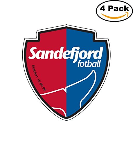 fan products of Sandefjord Norway Soccer Football Club FC 4 Stickers Car Bumper Window Sticker Decal 4X4