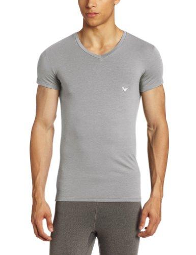 Emporio Armani Men's Soft V-Neck, Mastic, Large