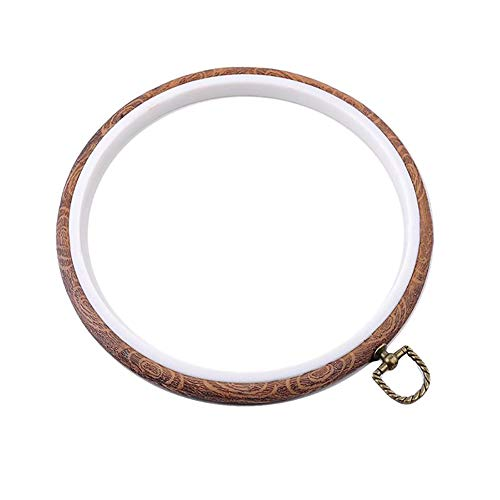 5Pcs Embroidery Hoop Ring Sets Cross Stitch Hoop Wood Crochet Embroidery Diaplay Frame Circle & Oval Hand Embroidery Hoop Kit Needlework Knitting Sewing Hoops DIY Art Craft Sewing Tools