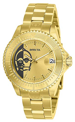 INVICTA Star Wars Lady 38mm Stainless Steel Gold Band, Gold dial Automatic Watch