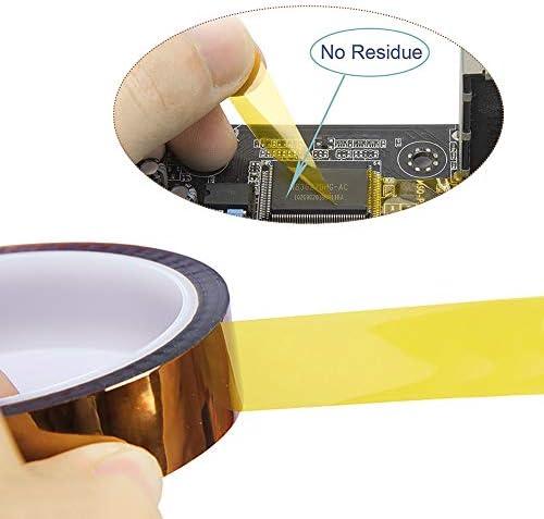 Polyimid Film Klebeband 12mm * 33m Hohe Temp Tape Hohen Temperaturen Hitzebest/ändig Klebeband YIXISI 4 St/ücke Kapton Tape