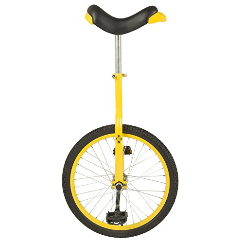 Fun 20-Inch Wheel Unicycles in Red, Black, Blue, and Yellow