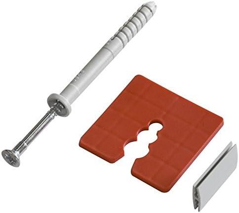 50x PVC Abstandhalter 15mm Distanzstück Sockelprofil Montage Sockelschiene EPS