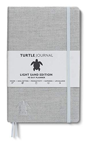 Life Changing Planner by Turtle Journal - Best Motivational Daily Planner and Daily Productivity Planner - Undated Planner and Goal Setting Journal - 5x8 Hardcover Planner in Light Sand 2019 (Days Of Our Lives Recaps Days Ahead)