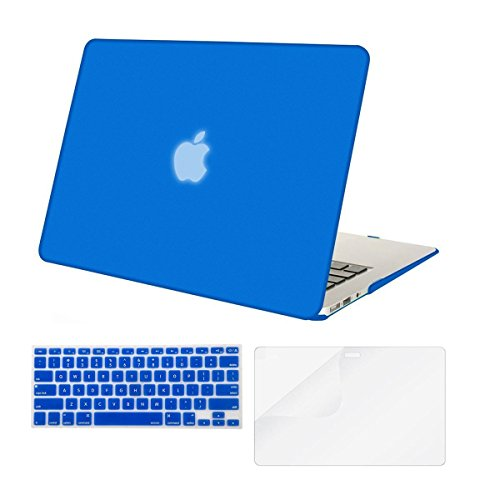 Mosiso Plastic Hard Case with Keyboard Cover with Screen Protector for MacBook Air 13 Inch (Models: A1369 and A1466), Royal Blue