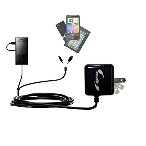 (Gomadic Double Wall AC Home Charger suitable for the LG New Chocolate BL20 - Charge up to 2 devices at the same time with TipExchange Technology)