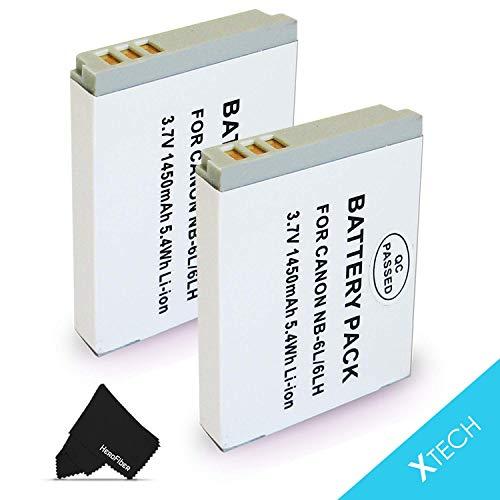 2 Pack NB-6L/NB6L Battery for Canon PowerShot SX540 SX530 SX610 SX600 SX710 SX700 SX520 SX510 SX500 SX280 SX260 SX170 SD1300 SD1200 SD980 SD770 SD1300 D30 D20 D10 Digital Cameras