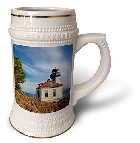 3dRose Danita Delimont - Washington - USA, Washington State, San Juan Island, Lime Kiln Point Lighthouse. - 22oz Stein Mug (stn_315158_1)