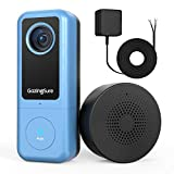 [2020 Newest] 2K WiFi Video Doorbell Camera| GazingSure Alexa Smart Doorbell with Chime| Smart Detection Zone| Cloud/SD Card Storage - Requires Existing Doorbell Wiring or Provided Adapter (Color: Metallic Blue, Tamaño: 2K Resolution)
