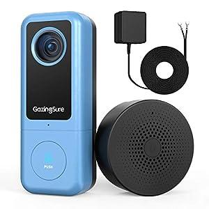 GazingSure WiFi Doorbell Camera(Wired) – 2K Smart Security Video Door Bell with Chime, Motion Detection, IP65…