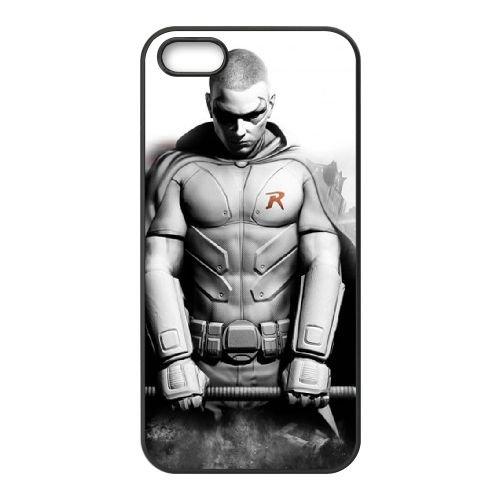Batman Arkham City Robin Wallpaper coque iPhone 4 4S cellulaire cas coque de téléphone cas téléphone cellulaire noir couvercle EEEXLKNBC23383