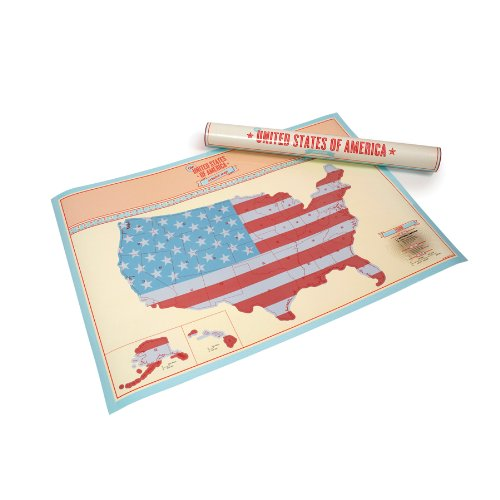 Scratch Map  USA Edition Personalised Map by Luckies