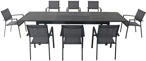 Cambridge BRYNDN9PC-GRY Byrn Outdoor Dining Set, Gray -