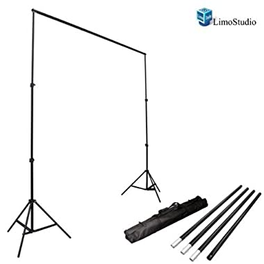 LimoStudio Photo Video Studio 10Ft Adjustable Muslin Background Backdrop Support System Stand, AGG1112