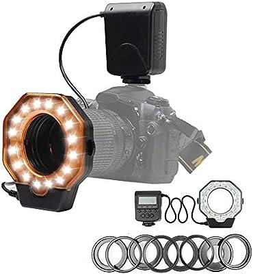 QYRL Anillo LED Flash Macro Flash De Luz para Canon 7D 6D para ...