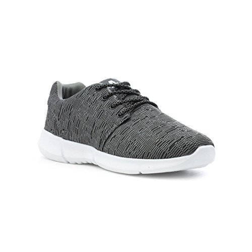 Ascot Mens Dark Grey Lace up Trainer Grey ouK6m43GD