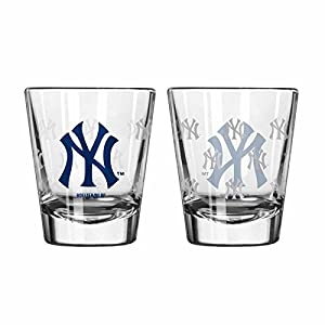 New York Yankees Shot Glass - 2 Pack Satin Etch