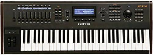 Kurzweil pc3 K6 Pack de sintetizador Workstation + kore64 tarjeta de extensión ROM + pc2srib controlador de cinta negro