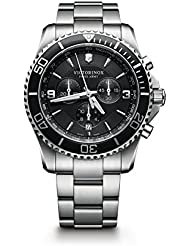 Victorinox Mens 241695 Maverick Chrono Analog Display Swiss Quartz Silver Watch